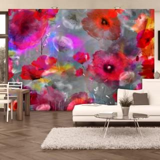 Φωτοταπετσαρία - Painted Poppies