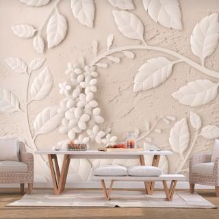 Φωτοταπετσαρία - Paper Flowers (Beige)
