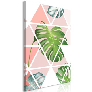 Πίνακας - Geometric Monstera (1 Part) Vertical