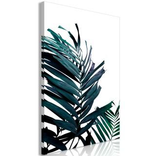 Πίνακας - Emerald Leaves (1 Part) Wide