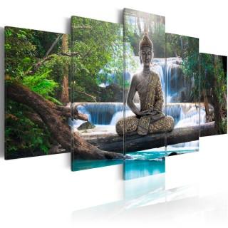 Πίνακας - Buddha and waterfall