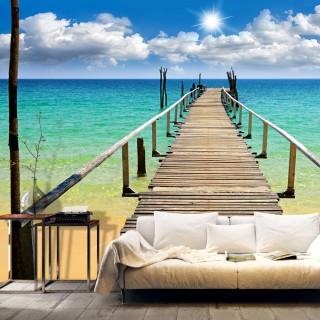 Φωτοταπετσαρία - Beach, sun, bridge