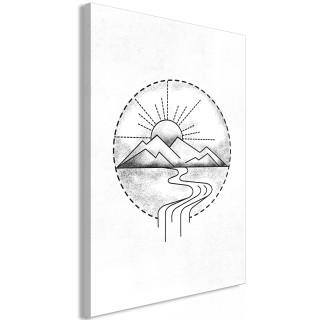 Πίνακας - Mountain Drawing (1 Part) Vertical