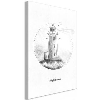 Πίνακας - Black and White Lighthouse (1 Part) Vertical