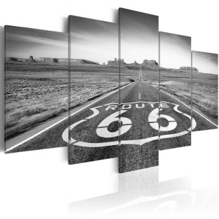 Πίνακας - Route 66 - black and white