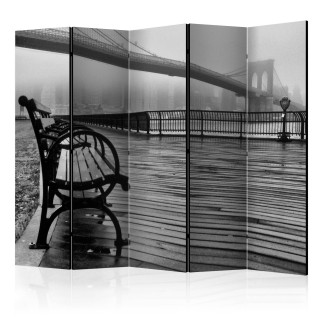 διαχωριστικό με 5 τμήματα - A Foggy Day on the Brooklyn Bridge II [Room Dividers]