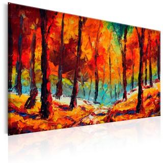 Χειροποίητα ζωγραφισμένος πίνακας - Artistic Autumn