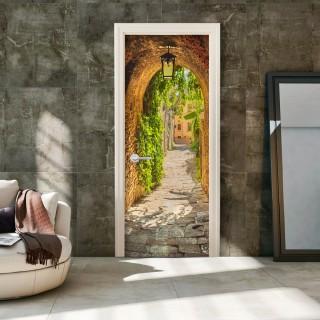 Φωτοταπετσαρία πόρτας - Alley in Italy