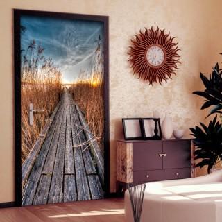 Φωτοταπετσαρία πόρτας - Photo wallpaper - Pier on the lake I