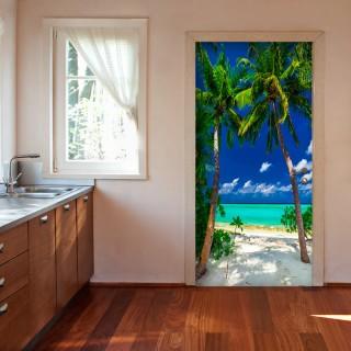 Φωτοταπετσαρία πόρτας - Photo wallpaper - Island, beach I