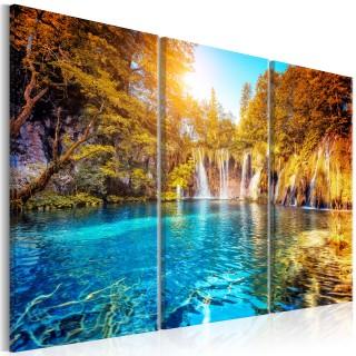 Πίνακας - Waterfalls of Sunny Forest