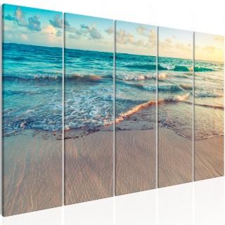 Πίνακας - Beach in Punta Cana (5 Parts) Narrow