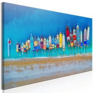 Πίνακας - Colourful Boats (1 Part) Narrow