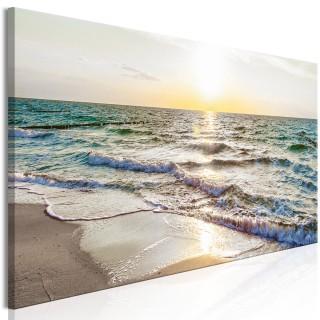 Πίνακας - Calm Waves (1 Part) Narrow Grey