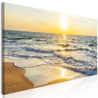Πίνακας - Calm Waves (1 Part) Narrow Golden