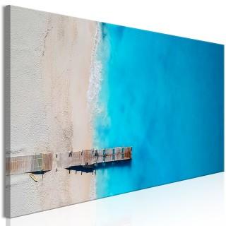 Πίνακας - Sea and Wooden Bridge (1 Part) Narrow Blue