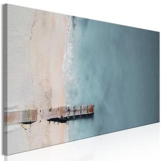 Πίνακας - Sea and Wooden Bridge (1 Part) Narrow Grey
