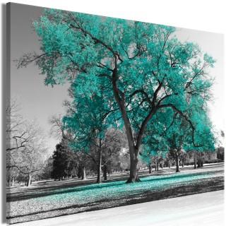 Πίνακας - Autumn in the Park (1 Part) Wide Turquoise