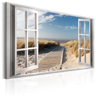 Πίνακας - Window: View of the Beach