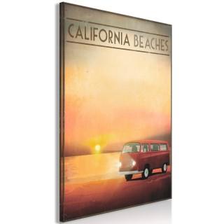 Πίνακας - California Beaches (1 Part) Vertical