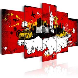 Πίνακας - New York: comic