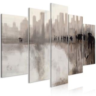 Πίνακας - City in the Rain (5 Parts) Wide