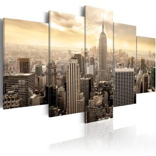 Πίνακας - New York and sunrise