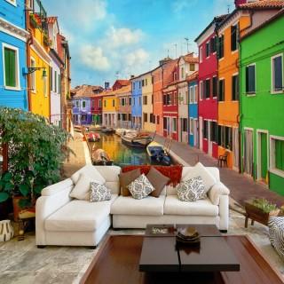Φωτοταπετσαρία -  Colorful Canal in Burano