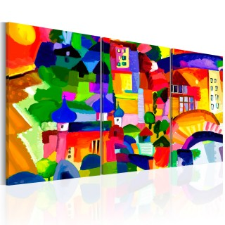 Πίνακας - Colourful Town