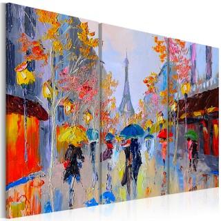 Χειροποίητα ζωγραφισμένος πίνακας - Rainy Paris