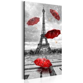 Πίνακας - Paris: Red Umbrellas