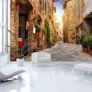 Φωτοταπετσαρία - Colourful Street in Tuscany