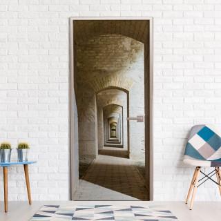 Φωτοταπετσαρία πόρτας - Mysterious Corridor