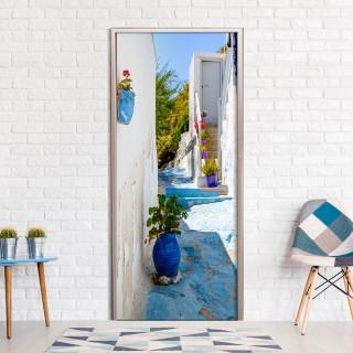 Φωτοταπετσαρία πόρτας - Blue Alley