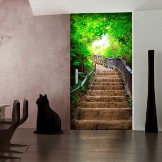 Φωτοταπετσαρία πόρτας - Photo wallpaper – Stairs from nature I