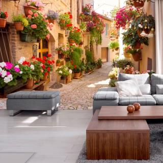 Φωτοταπετσαρία - The Alley in Spello (Italy)