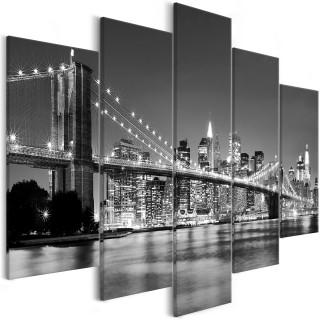 Πίνακας - Dream about New York (5 Parts) Wide