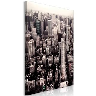 Πίνακας - Manhattan In Sepia (1 Part) Vertical