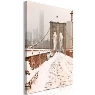 Πίνακας - Brooklyn Bridge in Sepia (1 Part) Vertical