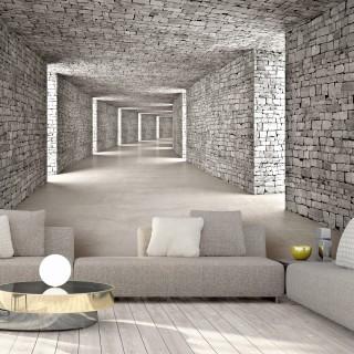 Αυτοκόλλητη φωτοταπετσαρία - Mysterious Tunnel