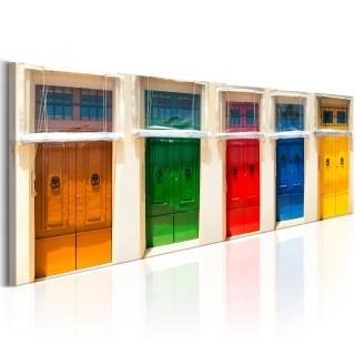 Πίνακας - Colourful Doors