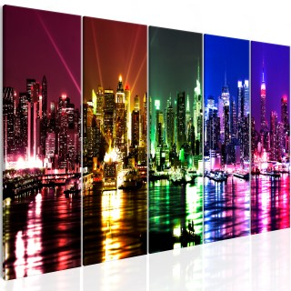 Πίνακας - Rainbow New York (5 Parts) Narrow