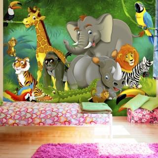 Αυτοκόλλητη φωτοταπετσαρία - Colourful Safari