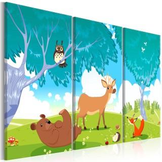 Πίνακας - Friendly Animals (3 Parts)