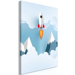 Πίνακας - Rocket in the Clouds (1 Part) Vertical