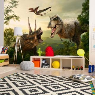 Αυτοκόλλητη φωτοταπετσαρία - Dinosaur Square
