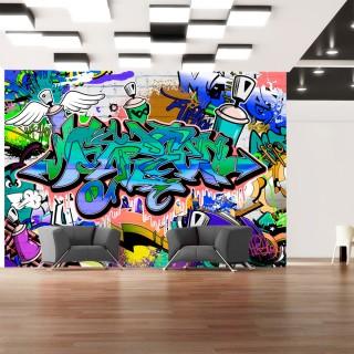 Φωτοταπετσαρία - Graffiti: blue theme