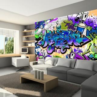 Φωτοταπετσαρία - Graffiti: violet theme
