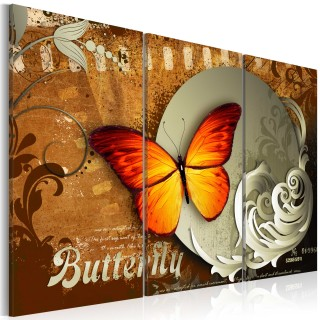 Πίνακας - Fiery butterfly and  full moon