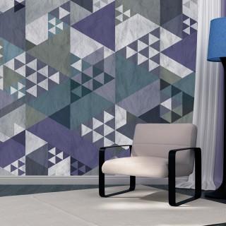 Φωτοταπετσαρία - Blue patchwork